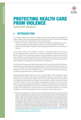 Protecting Health Care from Violence: Legislative Checklist