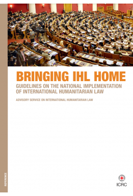 Bringing IHL home: Guidelines on the national implementation of international humanitarian law