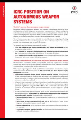 ICRC Position on Autonomous Weapon Systems
