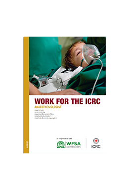 Work for the ICRC Anaesthesiologist