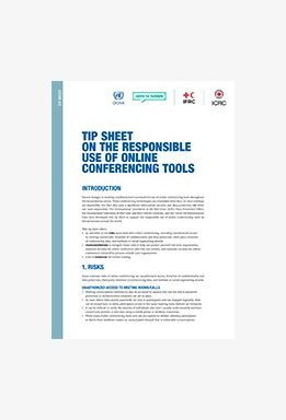 Tip Sheet on the Responsible Use of Online Conferencing Tools