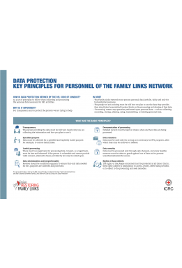 Data protection: Key principles for personnel of the Family Links Network